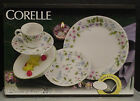 corelle Delicate Array piece for 4 NEW  in factory box with flowered saucers