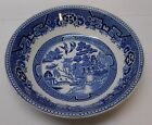 Holland Willow Bowl Petrus Regout Maastricht Holland White Blue Antique