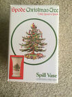 Spode England Pottery Christmas Tree Spill Vase New in Box Green Trim England