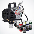 Precise Dual Action Airbrush  Compressor Kit Hobby Auto T Shirt Tanning Tattoo