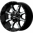 18 18x9 Moto Metal MO970 5x1397 5x150 +18mm Black Wheels Rims