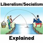 Anti Obama LIBERALISM SOCIALISM EXPLAINED FISHING Conservative Political Shirt