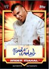 WWE Jinder Mahal 2011 Topps Classic Authentic Autograph Card