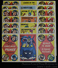 1966 Vintage Topps Comic Book Foldees Set of 7 Justice League Themed Batman.