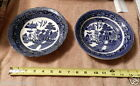 Buffalo Pottery 1907 - 1914 SEMI-VITREOUS Blue Willow Bowls Dishes GET TWO