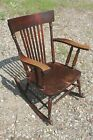 Antique American Chair Co. Wood Rocker Rocking Chair New York Dark Wood