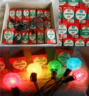 20 General Electric GE CHRISTMAS LIGHTED ICE BULBS w/ORIG. BOXES They All Work!!