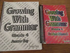Growing with Grammar Grade 4 set student manual answer keys