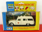 MATCHBOX LESNEY KING SIZE MERCEDES BENZ AMBULANCE No K6-2 ( NEAR MINT