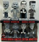 FUNKO UNIVERSAL MONSTERS SILVER SCREEN WOBBLER SET FRANKENSTEIN DRACULA WOLFMAN