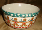 TIENSHAN Folkcraft GINGER BREAD Man CHRISTMAS Soup Cereal BOWL And Salad PLATE