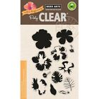 Layering Hibiscus Flower Clear Acrylic Stamp Set by Hero Arts CL868 NEW
