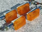 Honda CB 250 350 400 500 650 900 Shadow 750 Spirit Chrome/Amber TURN SIGNALS