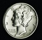 1936-p Mercury Dime.   70% Full Separated Horizontal Bands.  BU (INV.A)