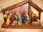 NATIVITY MANGERCRECHESTABLE HOLY FAMILYIN ORIGINAL BOXWOOD