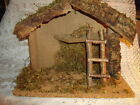 FONTANINI NATIVITYMANGERCRECHE STABLE only w BOX WOOD10x12x7 SPECTACULAR