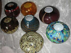 Unique Decorative Hand Blown Glass Vase Flowers Table Counter Round NEW