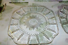 FEDERAL GLASS COLUMBIA CLEAR LUNCH PLATE (5 available) price for one  EXC