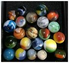 Lot Of 23 Antique Marbles: Akro, Vitro, Peltier, Marble King (60M)