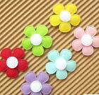 US SELLER 60 pc x 1 Padded Felt Spring Flower Appliques for Cards Bows ST524M