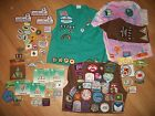 LARGE LOT GIRL SCOUT DAISY BROWNIE AND JUNIOR PINS PATCHES VESTS SASH NC