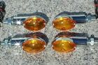 Honda CB 250 350 400 500 650 900 Shadow 750 Spirit Chrome/Amber CE TURN SIGNALS