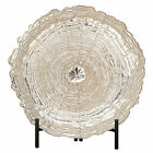 Urban Designs Opulence Decorative Glass Charger Plate and Stand