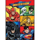 JUSTICE LEAGUE INVITATIONS 8 Birthday Party Supplies Stationery Cards Notes