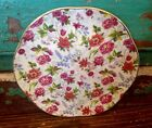 Formalities by Baum Bros Candle Plate, Chintz Floral Pattern