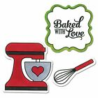 Baked with Love Sizzix Stamp and Framelits Die Set by Lori Whitlock NEW