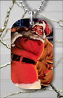 SANTA CLAUS WITH TOYS CHRISMAS NIGHT DOG TAG NECKLACE PENDANT FREE CHAIN -kjh1Z