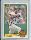 2001 Donruss - WADE BOGGS - Recollection Autograph Rookie 1983 - #d3 7 - RED SOX