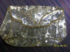 VINTAGE SEQUIN COIN PURSE HAND MADE IN BELGIUM circa 1930's or 1940's, belt loop