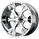 18x9 Chrome Helo HE791 5x55 12 Rims Toyo Open Country MT LT275 70R18
