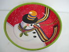 CERTIFIED INTERNATIONAL SNOWMAN PASTA SERVING GEOFF ALLEN  LARGE BOWL 13