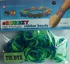 Tie Dye Rubbzy Loose Rubber Bands 100ct Blue Green