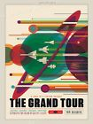 Grand Tour of the Solar System Space Exploration Retro Travel Poster 18x24