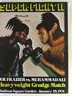 EXTREEMLY RARE,Muhammad Ali, HAND SIGNED FIGHT PROGRAM SUPER FIGHT TWO