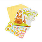 LION KING Sweet Circle of Life THANK YOU NOTES 8 Baby Shower Party Supplies