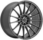 Konig Rennform 18X8 5X112mm +45 Matte Grey Wheels Fits Audi A4 A5 A6 A8