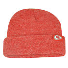 NFL Kansas City Chiefs Ollie Cuffed Knit Beanie Toque Heather Red Winter Hat