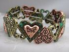 Heart Stretch Bracelet Gold Copper Silver Green Love Fashion Jewelry NEW