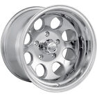 15x10 Polished Alloy Ion Style 171 5x55 38 Rims 35X125X15 Tires