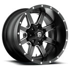 Fuel D538 Maverick 22x10 5x1397 5x150 24mm Black Milled Wheels Rims