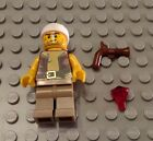 New LEGO Old Pirate Minifigure with Vest and Anchor Tattoo Flintlock Pistol and