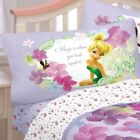 nEw 4pc DISNEY FAIRIES Tinkerbell FULL BED SHEETS Purple Flower Floral Bedding