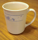 CORNING / CORELLE FIRST OF SPRING 10oz TALL MUG CUP BEIGE W/ BLUE WHITE FLOWERS