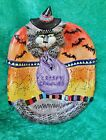 HALLOWEEN CAT COOKIE CANDY DISH