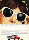 1966 Ford Galaxie Hertz Singlasses - Vintage Advertisement Car Print Ad J499