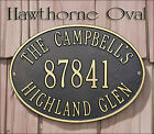 Whitehall Hawthorne Oval Address Marker Plaque Sign 17 Color Choices